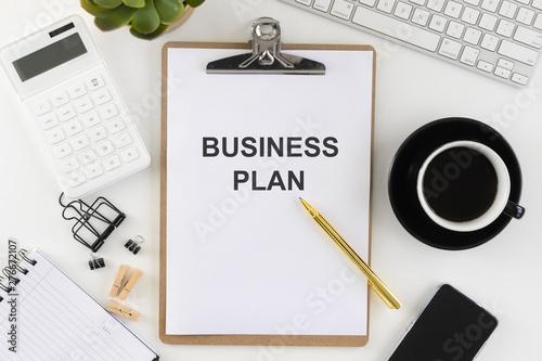 Photo Business plan concept