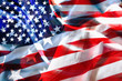 Drapeau américain dans le vent