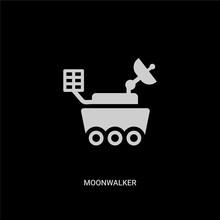 White Moonwalker Vector Icon O...