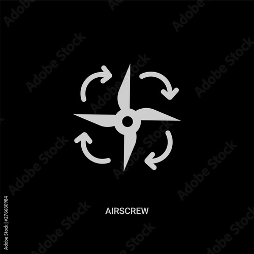 white airscrew vector icon on black background Wallpaper Mural