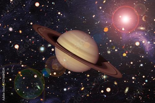 Fotomural Saturn, solar system