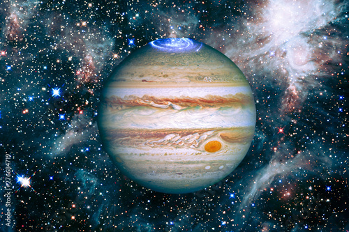 Jupiter and outer space, galaxies Tableau sur Toile