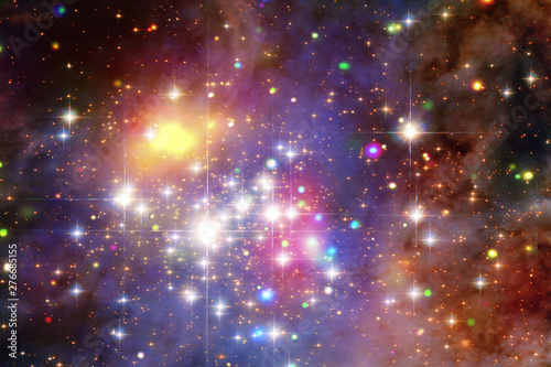 Star cluster and galaxy. The elements of this image furnished by NASA. - 276685155
