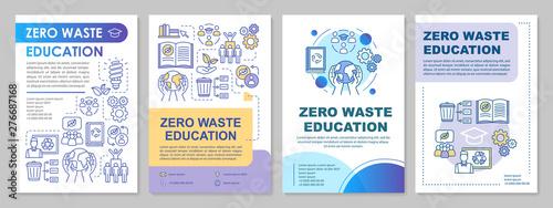 Zero waste education brochure template layout Tablou Canvas