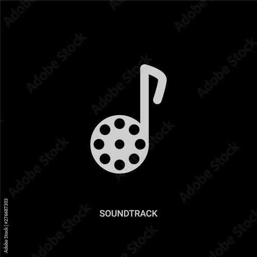 white soundtrack vector icon on black background Wallpaper Mural