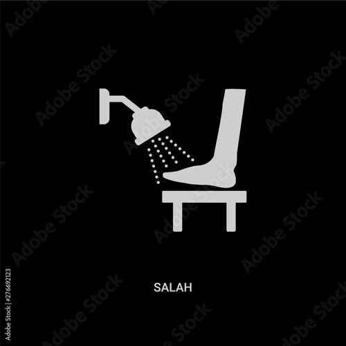 white salah vector icon on black background Wallpaper Mural