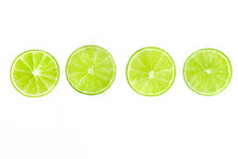 Vibrant Lime Slices, Shot From...