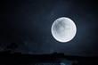 Leinwandbild Motiv Full moon night sky background