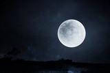 Fototapeta Fototapety z naturą - Full moon night sky background