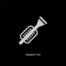 White Trumpet Toy Vector Icon ...