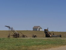 Wide View Of Vintage Farm Equi...