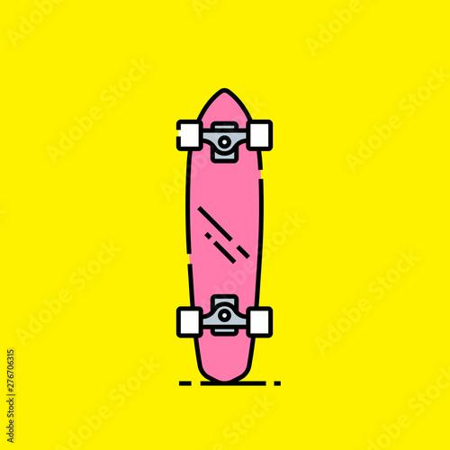 Fotografie, Obraz Short skateboard line icon