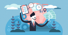 Manager Vector Illustration. Flat Tiny Business Job Project Persons Concept