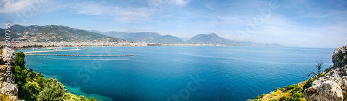 Photo Stands Egypt panoromic view of alanya