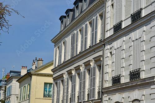 Poster Ecole de Danse Saint Germain en Laye; France - april 18 2019 : picturesque city centre