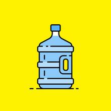 5 Gallon Water Bottle Line Ico...