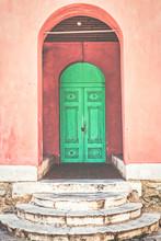 Typical Vintage Wooden Door