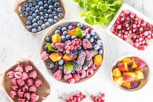 Frozen Fruits Blueberries Blac...