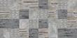 set of seamless patchwork patterns