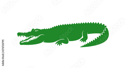 Fotografía Crocodile logo. Abstract crocodile on white background