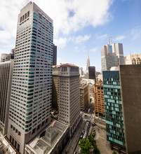 New And Old Skyscrapers And High Rise Buildings In Downtown San Francisco