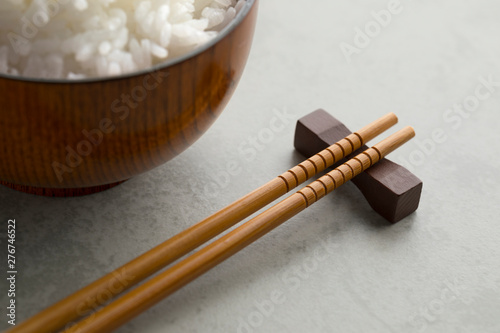 Traditional Japanese wooden chopsticks Canvas Print