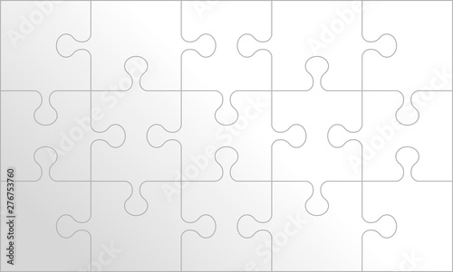 Puzzle background, banner, blank Canvas-taulu