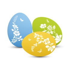 Colorful Easter eggs decora...