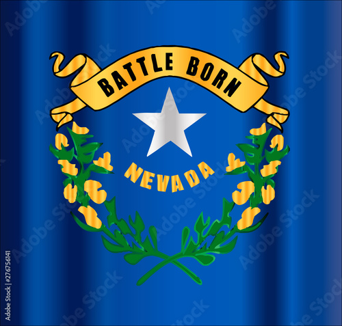 Battle Born Nevada State Flag Motif Canvas Print