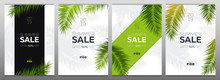 Set Of Sale Banners With Summe...