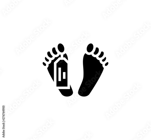 Fotomural Morgue feet vector isolated flat illustration. Morgue feet icon