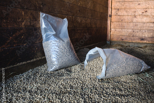 Fototapeta  pellets as a lining for horses obraz