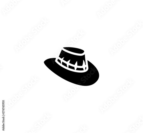 Outback hat vector isolated flat illustration. Outback hat icon Canvas Print