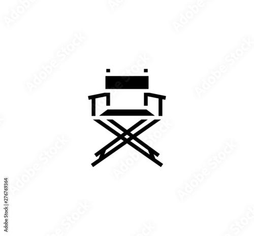 Fototapeta Director chair vector isolated flat illustration
