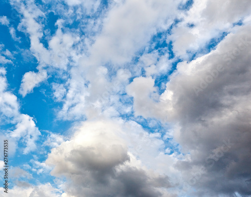 Beautiful volumetric clouds on a sunny day - Buy this stock