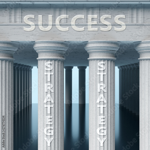 Strategy is a vital part and foundation of success, it helps achieving success, Wallpaper Mural