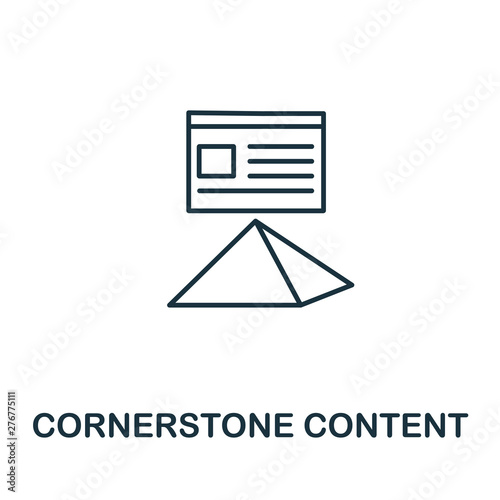 Leinwand Poster Cornerstone Content outline icon