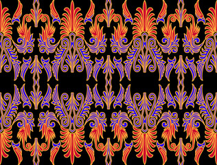 Seamless Batik Pattern.Able to repeat for textile printing