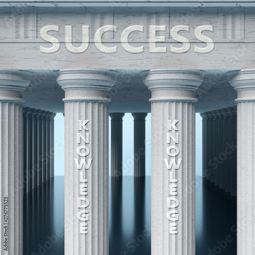 Knowledge is a vital part and foundation of success, it helps achieving success, Wallpaper Mural
