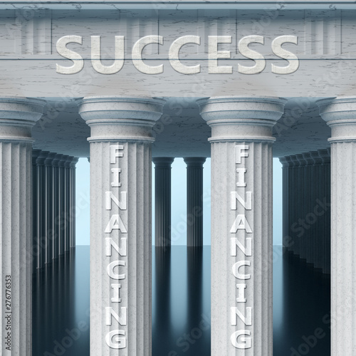 Financing is a vital part and foundation of success, it helps achieving success, Canvas Print