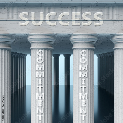 Photo  Commitment is a vital part and foundation of success, it helps achieving success