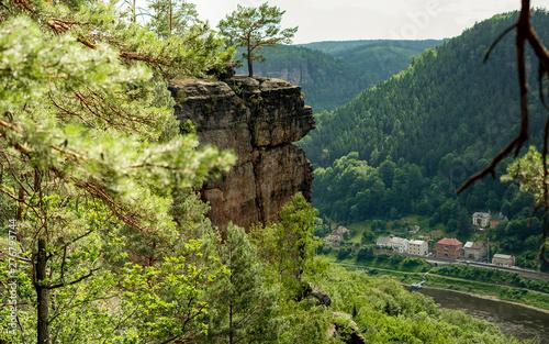 Fotografía  The oldest viewing point in Bohemian Switzerland is Belvedere in the Czech Republic