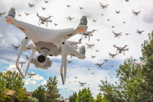 Dozens Of Drones Swarm In The ...