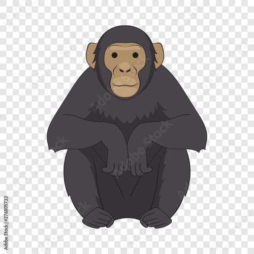 Chimpanzee icon Wallpaper Mural