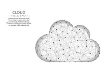 Cloud Low Poly Design, Weather...