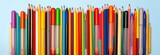 Fototapeta Tęcza - Сolored pencils background. Pencils art desing creative concept.