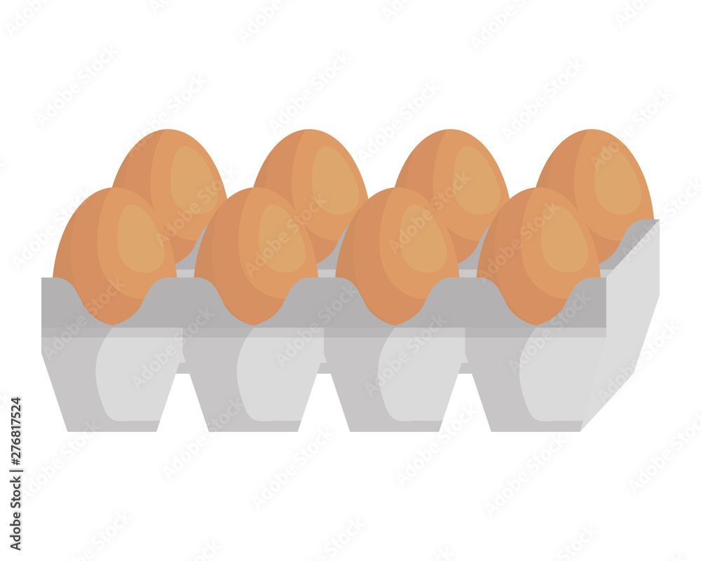 Fototapety, obrazy: eggs carton packing healthy food