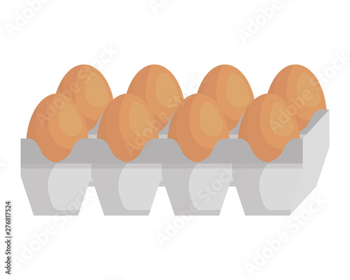 eggs carton packing healthy food