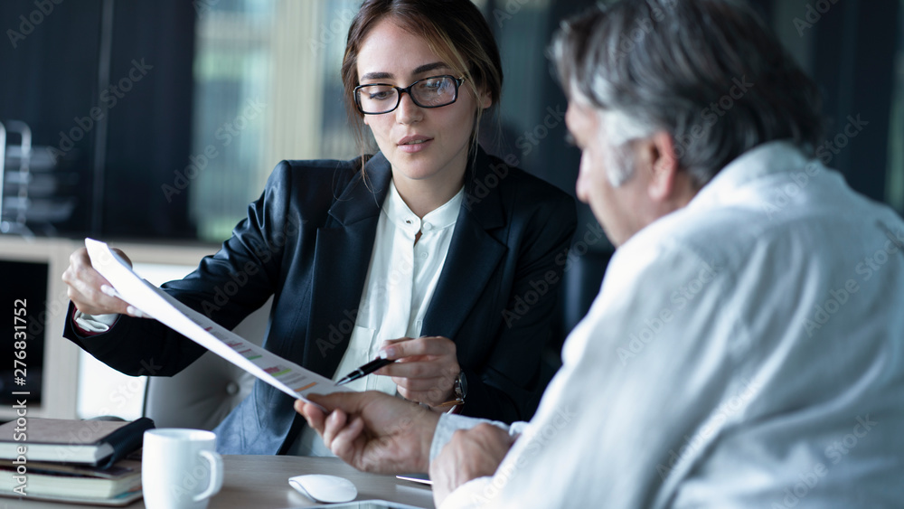 Fototapeta Business people discussion advisor concept