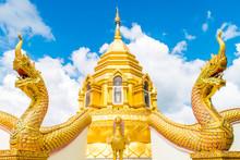 Naga Statue In Thai Temple